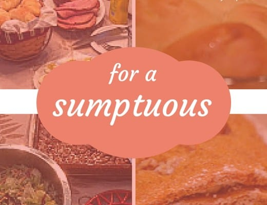 5 Savory dishes for a sumptuous Thanksgiving Dinner. Easy, delicious side items, and a free printable crockpot stuffing recipe.
