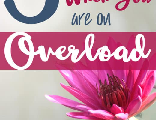 3 things to do when you are on overload; how to apply Scripture for discernment and advice on how to look at motherhood as a ministry instead of a nuisance.