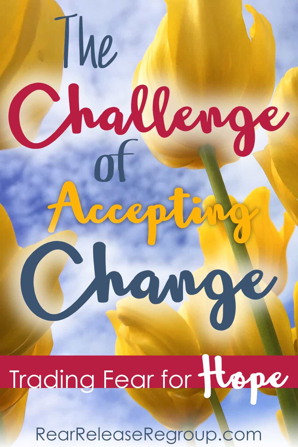 The challenge of accepting change - trading fear for hope; through acceptance in transitions God has freedom to grow faith into hope.