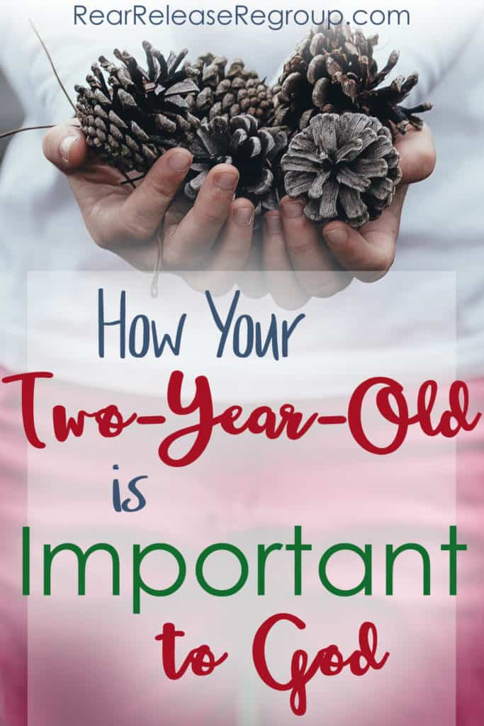 How your two-year-old is important to God. Things to remember about gifts, presents, Christmas, tantrums, and toddler behavior. Consistency and the ministry of motherhood is key!