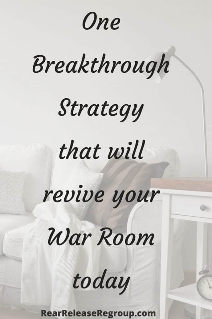 One breakthrough strategy that will revive your War Room today. After I started this one simple thing, my prayer life was deepened, expanded, and empowered.