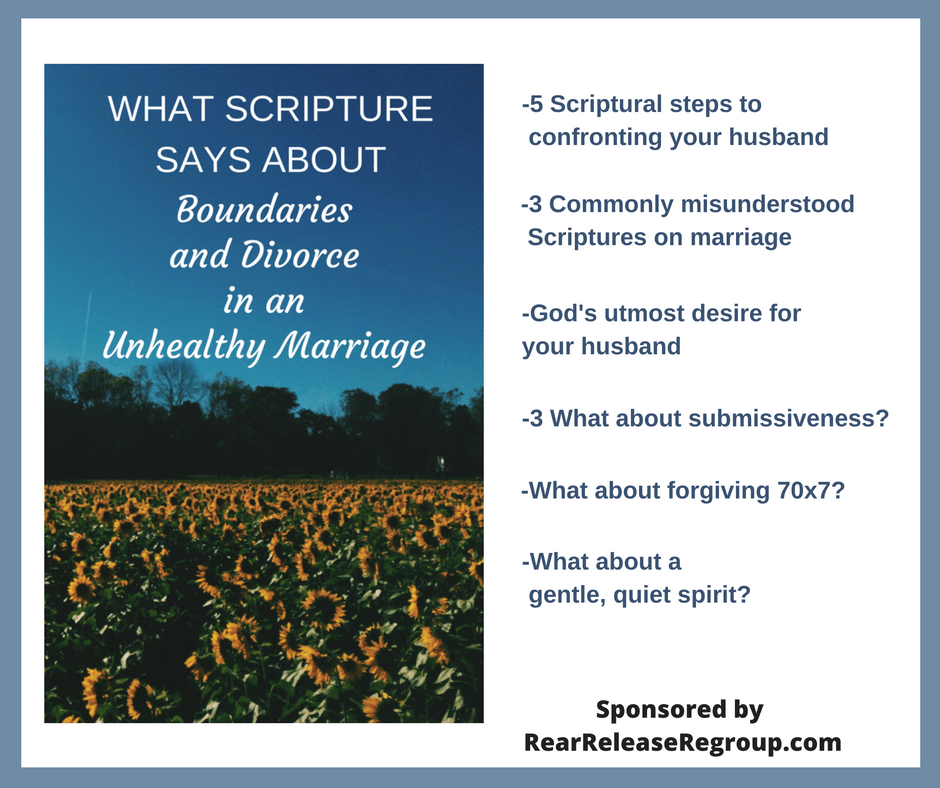 What Scripture says about boundaries and divorce in an unhealthy marriage.