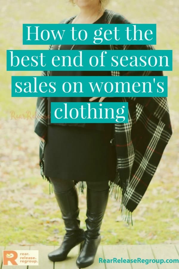 How to get the best end-of-season sales on women's clothing. Ideas from Loft, Ann Taylor, TJ Maxx, Macy's, thred-UP, and Target. Styles for ages 35-65.