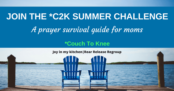 Join the C2K Summer prayer challenge for a summer prayer survival guide for moms. Don't miss out - tap into God's rich blessings and enjoy your kids too!