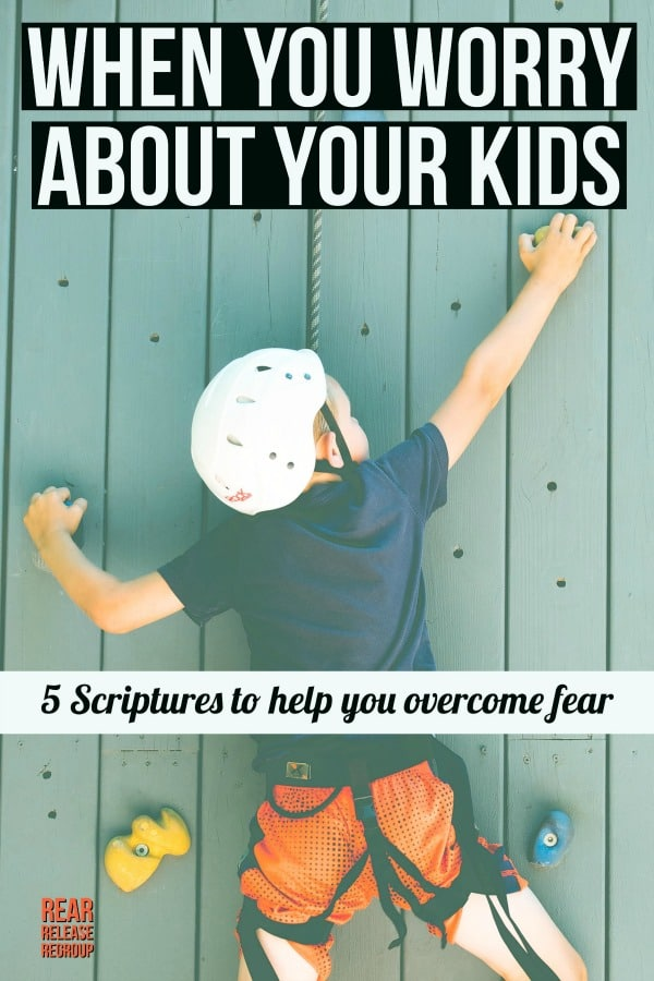 5 Scriptures for when you worry about your kids; how God addresses fear about the future in the Bible and proof for how He cares for us and our children.