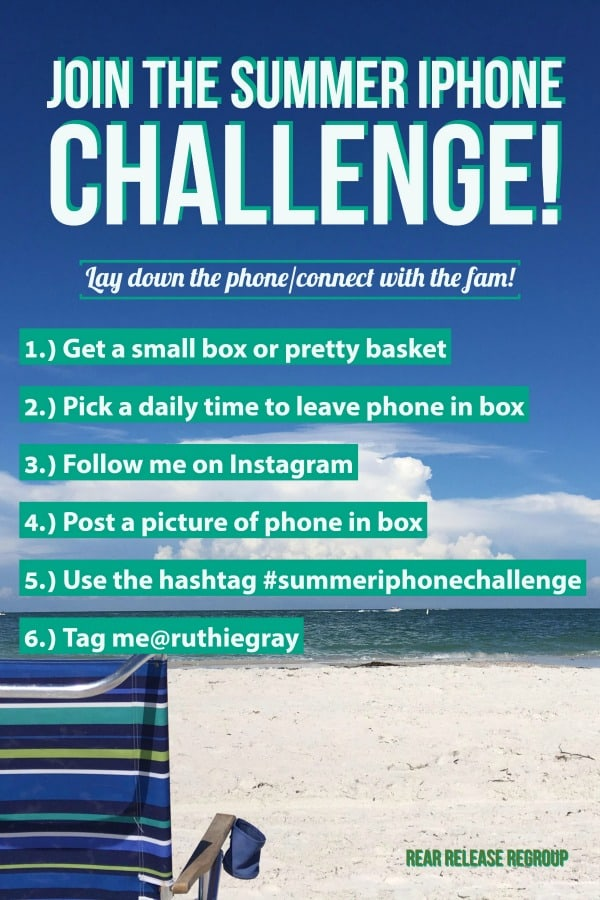 How to disconnect and enjoy your kids this summer; Practicing the art of family connections, communication, and solid parenting involvement. Join the summer iphone challenge on Instagram - Lay down the phone and connect with the fam!