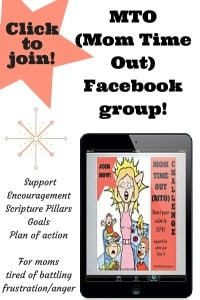 Click on the link to join MTO (Mom Time Out), a closed facebook group for when you blow it!