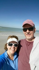 Jim and I at the beach