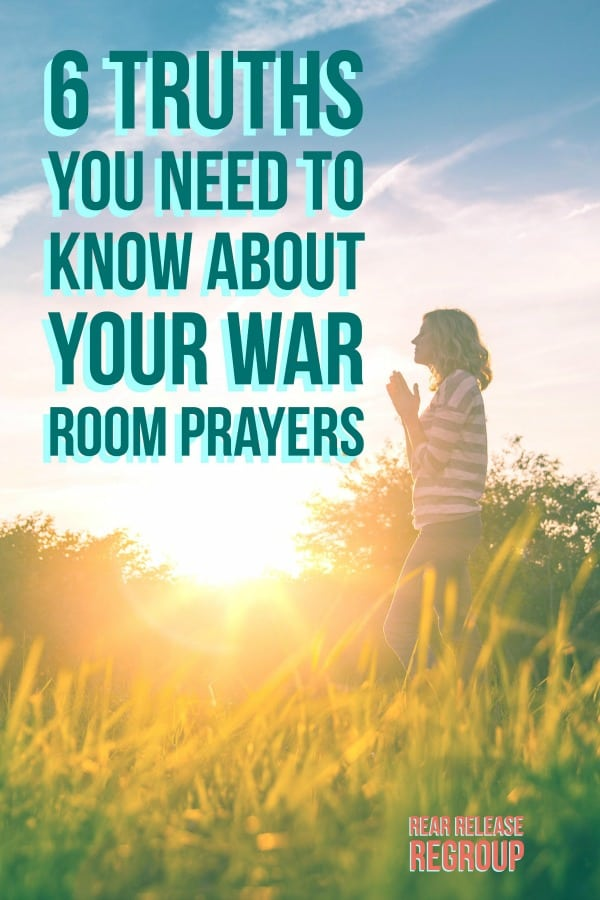 6 truths you need to know about your war room prayers when you're discouraged because they're not working.  For moms struggling with space, time, or answers. #warroom #prayer #warroomprayers