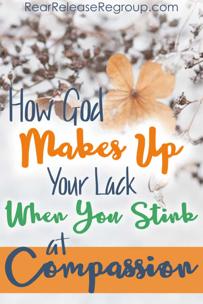 When you stink at compassion as a mom or wife, and how God makes up your lack