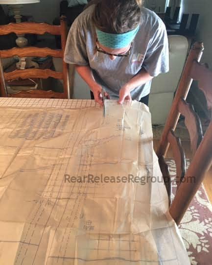 Sewing cutting pattern