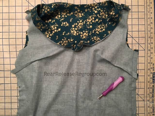 Sewing top of dress
