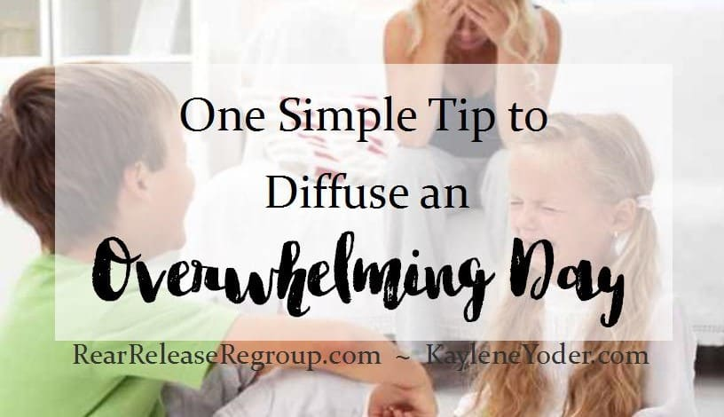 One Simple Tip to Diffuse an Overwhelming Day FB