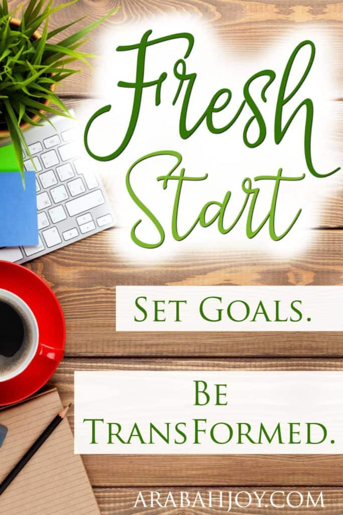 Commit to a Fresh Start and learn about setting goals God's way! With Grace Goals, by Arabah Joy, I accomplished three major goals in 2016 and you can too!