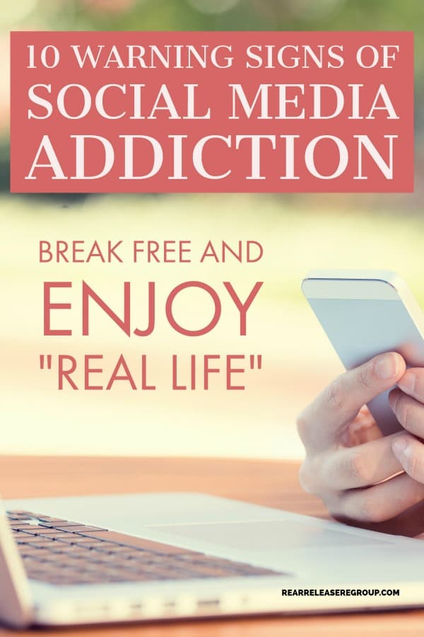 10 warning signs of social media addiction. Insight on technology overuse, how to employ God's comments of affirmation, and start living a real life.