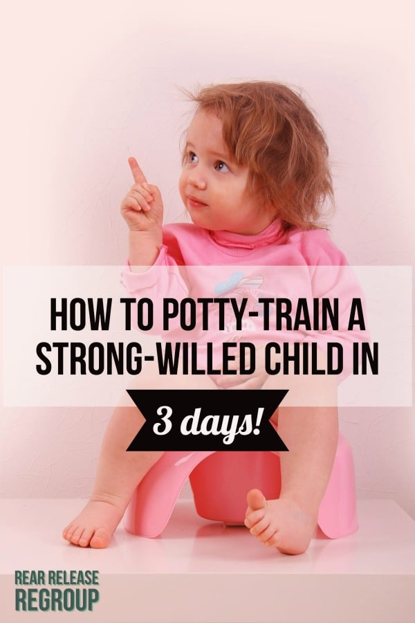 Is your child refusing to toilet train? Here's how to actually potty train a strong-willed child in 3 days. This worked for us with successful results!