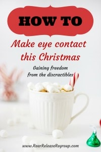 How to make eye contact this Christmas and gain freedom from distractions.  Creating deeper family connections during the savory moments of the season.