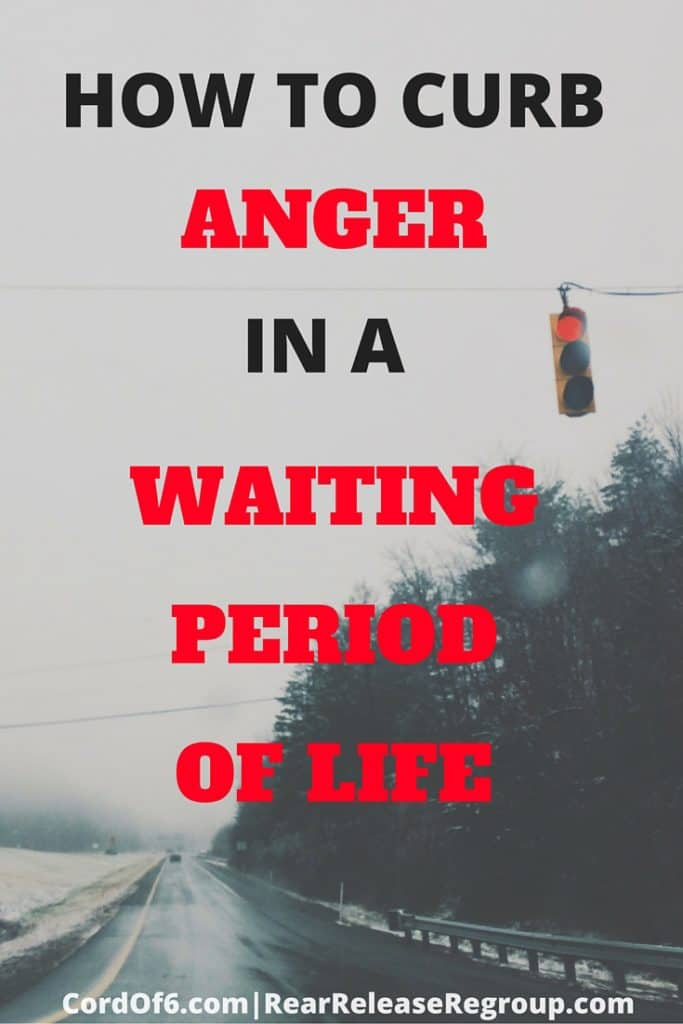 """Let's exercise our faith while we wait and grow some """"trust muscles"""". Through faith in God, we can learn to curb anger in our waiting periods of life."""