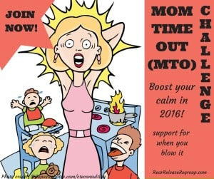 "Join the MTO challenge and boost your calm in 2016! A special Facebook group for moms to interact and share encouragement for those ""real"" moments"