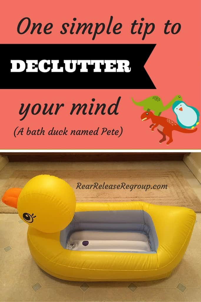 One simple tip to declutter your mind for when you struggle with sound decisions.