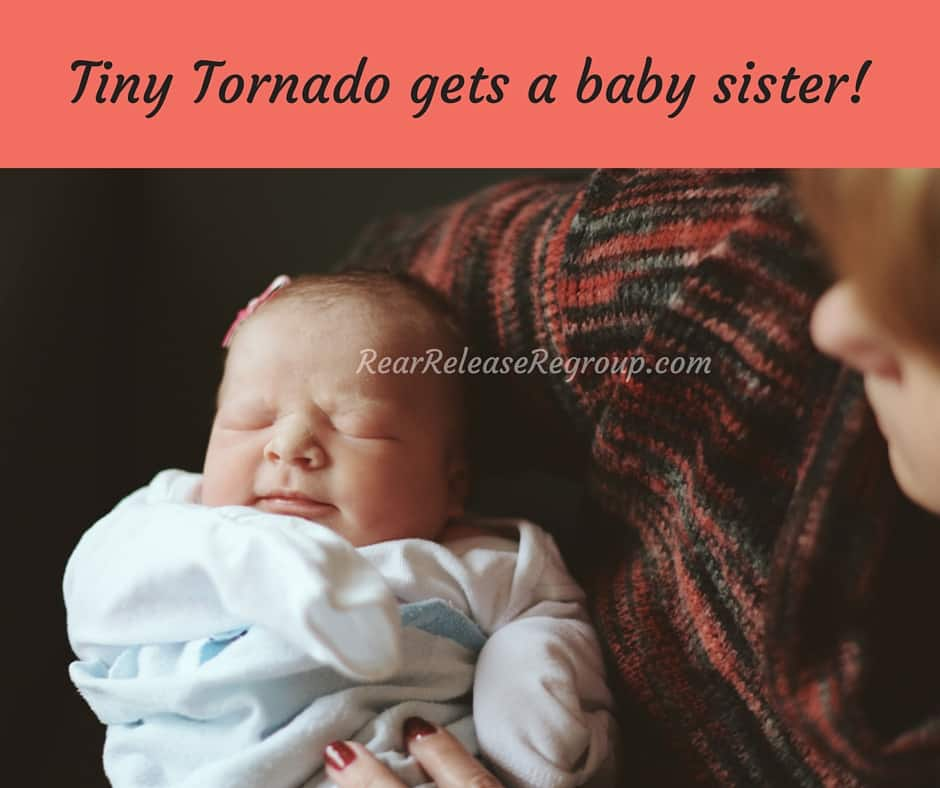 The Tiny Tornado gets a baby sister! Join us today for Tuesday Talk Link Up and see picture's of Gigi's newest arrival!