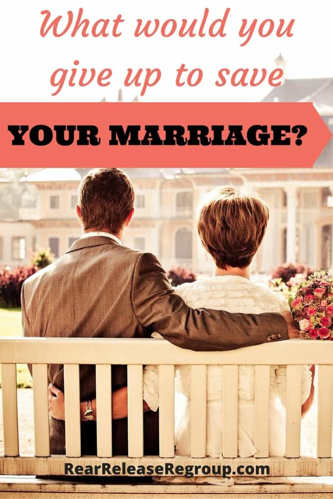 What would you give up to save your marriage? Insight into how God looks at the ministry of Christian marriage verses our perceived notions.