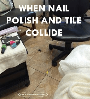 When nail polist and tile collide